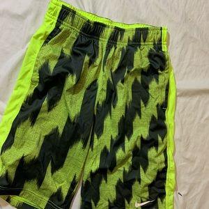 Nike Boys Dri Fit Neon Athletic Basketball Shorts